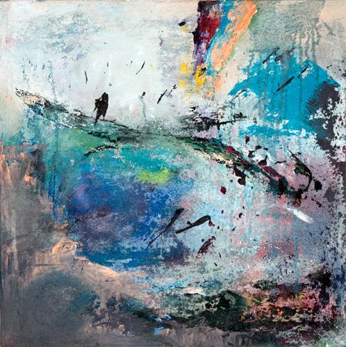 Gisela Rosenberger, Der blaue See, Acryl auf Leinwand