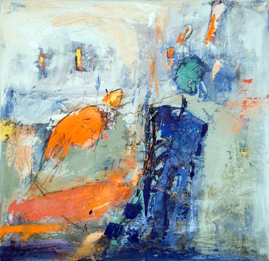 Gisela Rosenberger. ohne Titel, Acryl auf Leinwand