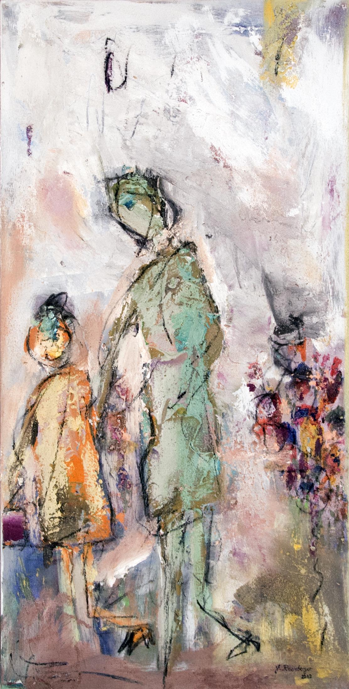 Gisela Rosenberger, Spaziergang, Acryl auf Leinwand