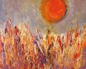 heisser sommer (2014) Acryl/Sand, 60 x 60 cm
