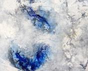 ohne Titel (2016), Acryl/Tusche, 40 x 40cm