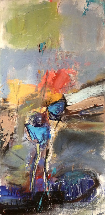 ohne Titel (2016), Acryl/Sand, 50 x 100cm