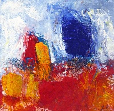 ohne Titel (2016), Acryl/Sand, 20 x 20cm