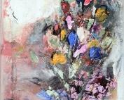 Am MeerBlumenstrauß–Malerei_Gisela Rosenberger
