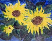 Sonnenblumen (2010) Acryl 40 x 50 cm_Gisela Rosenberger