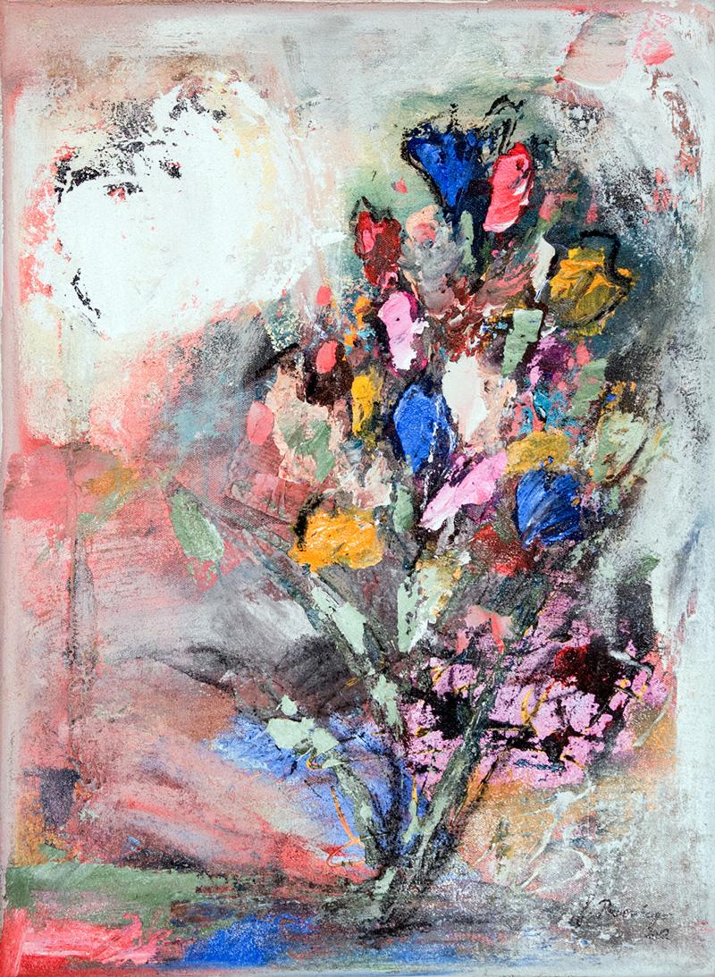 Gisela Rosenberger, Blumenstrauß, Acryl